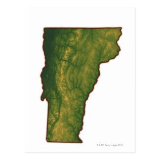 Mapa de Vermont Postal