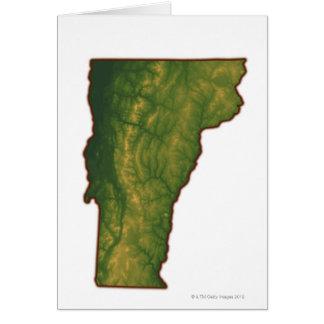 Mapa de Vermont Felicitacion