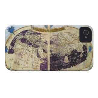 MAPA DE VIEJO MUNDO DEL VINTAGE iPhone 4 CARCASA
