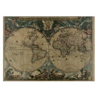 Mapa de Viejo Mundo del vintage para los Tabla Para Cortar