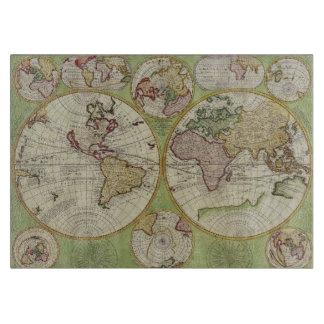 Mapa de Viejo Mundo del vintage para los Tablas De Cortar