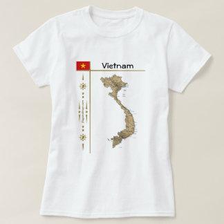 Mapa de Vietnam + Bandera + Camiseta del título