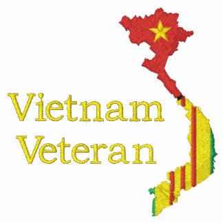 Mapa de Vietnam - camisa bordada veterano de Vietn Camiseta Polo Bordada