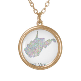 Mapa de Virginia Occidental Collar Dorado