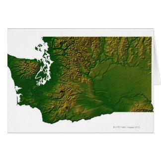 Mapa de Washington 3 Tarjetas