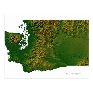 Mapa de Washington 3 Tarjetas Postales