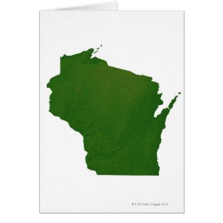 Mapa de Wisconsin Tarjeta De Felicitación
