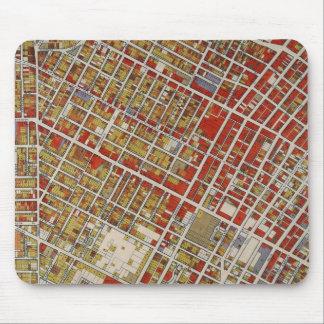 Mapa de WPA de Los Ángeles central Alfombrillas De Ratón