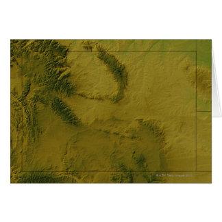 Mapa de Wyoming Tarjeton