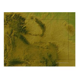 Mapa de Wyoming Tarjeta Postal