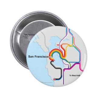 Mapa del arco iris de SF Chapa Redonda De 5 Cm