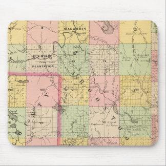 Mapa del atlas de las tierras 4 de la madera alfombrilla de ratón