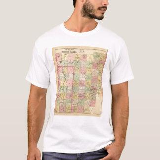 Mapa del atlas de las tierras 4 de la madera camiseta