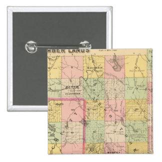 Mapa del atlas de las tierras 4 de la madera chapa cuadrada