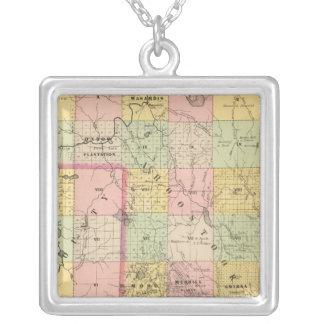 Mapa del atlas de las tierras 4 de la madera colgante cuadrado