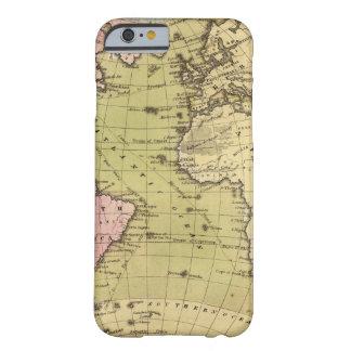 Mapa del atlas de Océano Atlántico Funda Barely There iPhone 6