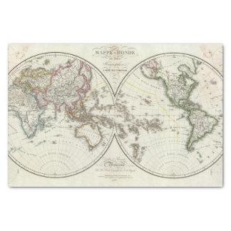 Mapa del atlas de París Papel De Seda