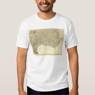 Mapa del atlas del SE Francia Camisas