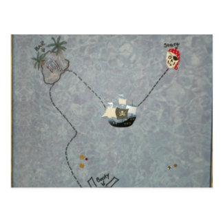 Mapa del botín del pirata postal