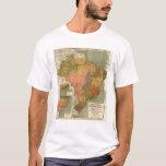 Mapa del Brasil Camiseta