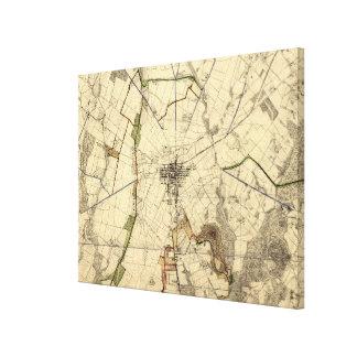 Mapa del campo de batalla de Gettysburg del Lienzo