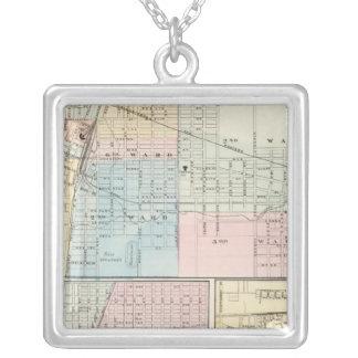 Mapa del chamán, de Urbana, de Mattoon y de Charle Collar Plateado