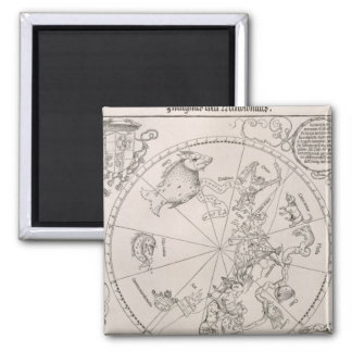 Mapa del cielo meridional iman de nevera