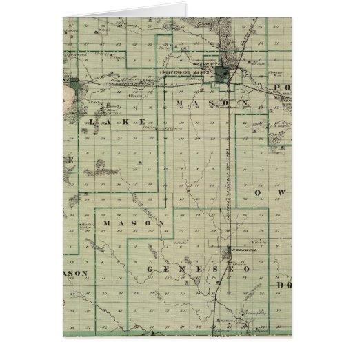 Mapa del condado de Cerro Gordo, estado de Iowa Tarjeta