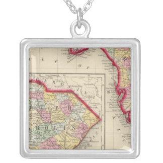 Mapa del condado de la Florida Collar Plateado
