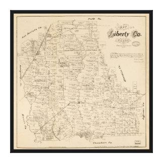 Mapa del condado de Liberty, Tejas (1879) Impresión En Lienzo