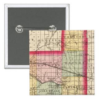Mapa del condado de Ottawa, Michigan Chapa Cuadrada