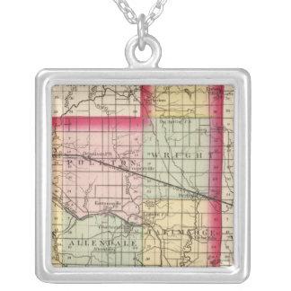 Mapa del condado de Ottawa, Michigan Collar Plateado