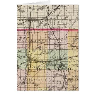 Mapa del condado de San José, Michigan Tarjeta De Felicitación