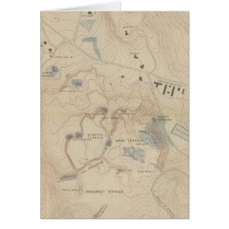 Mapa del detalle de Mammoth Hot Springs Tarjeta De Felicitación