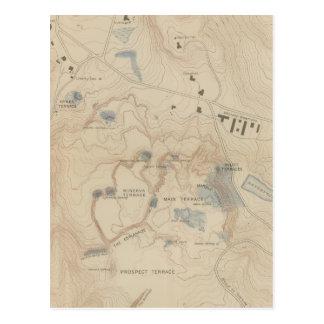Mapa del detalle de Mammoth Hot Springs Postales