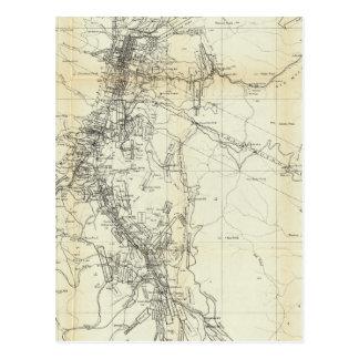 Mapa del esquema del distrito de Washoe Postal