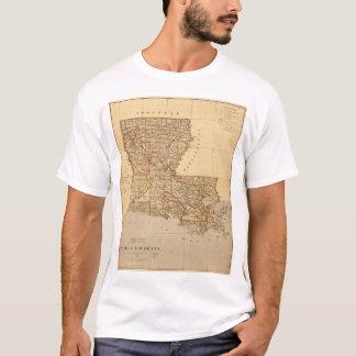 Mapa del estado de Luisiana (1876) Camiseta