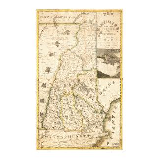 Mapa del estado de New Hampshire (1817) Lienzo