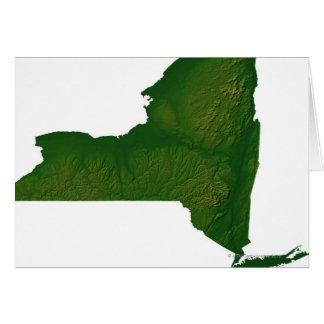Mapa del Estado de Nuevo York Tarjeton