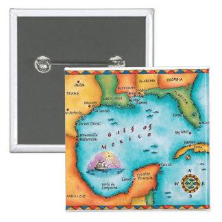 Mapa del Golfo de México Chapa Cuadrada