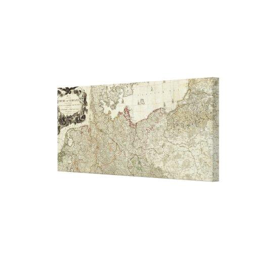 Mapa del imperio de la sección septentrional de Al Lienzo Envuelto Para Galerias
