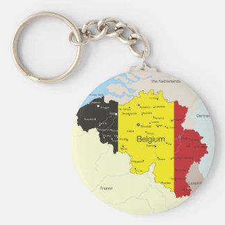 Mapa del llavero de Bélgica