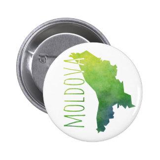 Mapa del Moldavia Chapa Redonda De 5 Cm
