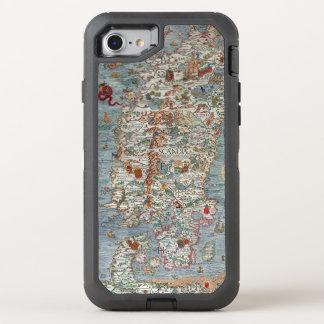 Mapa del monstruo de mar del puerto deportivo de funda OtterBox defender para iPhone 8/7