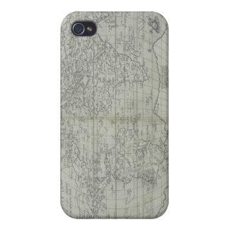 Mapa del mundo 10 iPhone 4 fundas