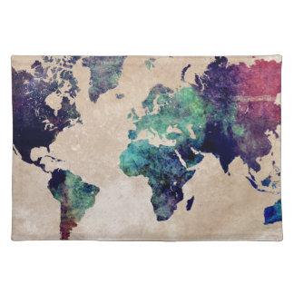 mapa del mundo 10 salvamanteles