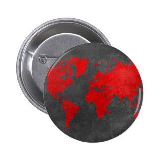 mapa del mundo 11 chapa redonda de 5 cm