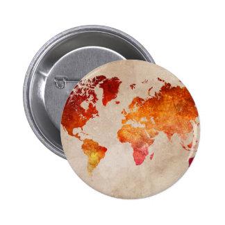 mapa del mundo 13 chapa redonda de 5 cm