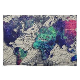 mapa del mundo 15 salvamanteles
