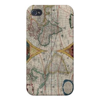Mapa del mundo 1641 iPhone 4/4S fundas